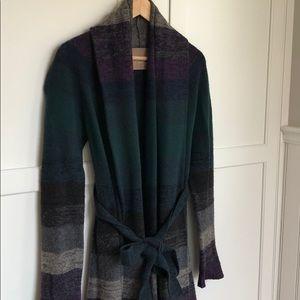 BCBG Max Azria Belted Cardigan Sweater Sz M JS